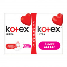 Прокладки Kotex Ultra Super с крыл.16шт