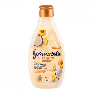 Гель для душа Johnson's body care Vita-Rich Кокоc-персик 250мл