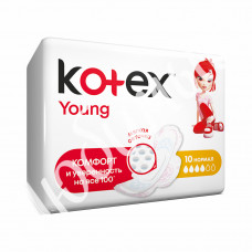 Прокладки Kotex Young Normal с крыл.10 шт