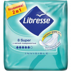 Прокладки Libresse Invisible Super 8шт